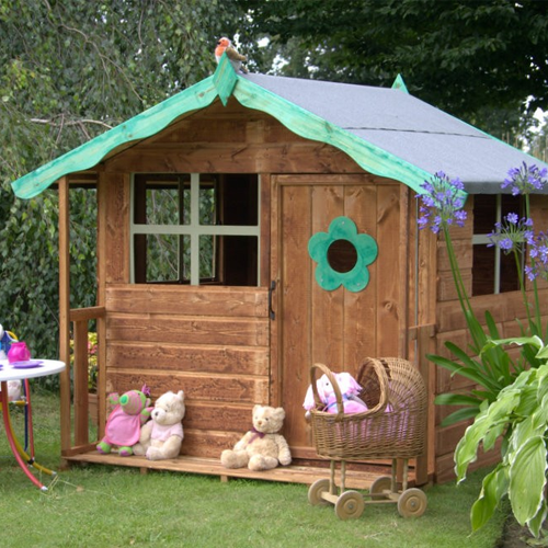 wooden cubby garden house shire play house gifts for kids online - Garden Sheds For Kids