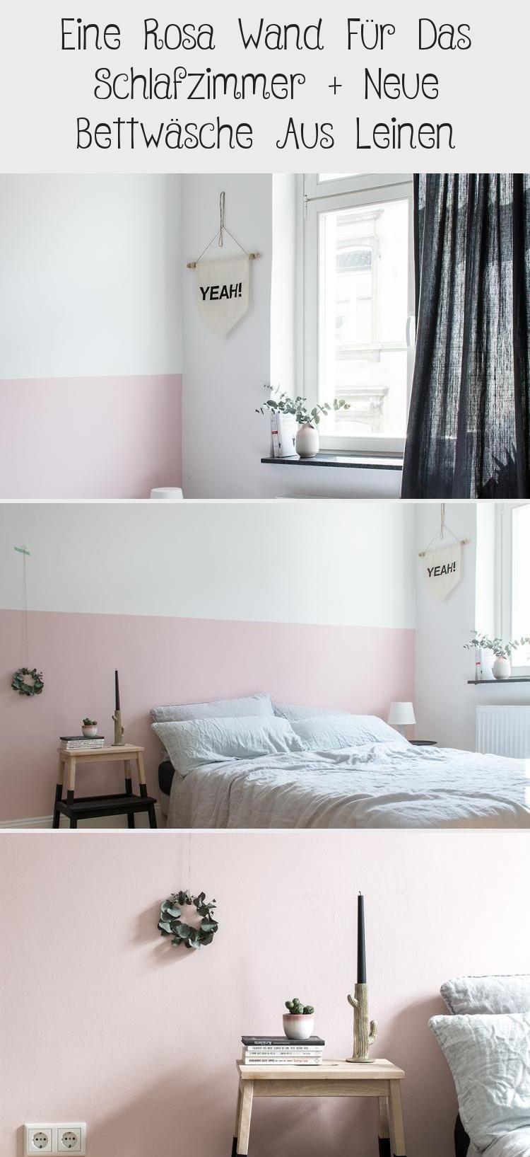Halbhoch Rosa Die Wand Im Schlafzimmer Www Kol In 2020 Rosa Wande Schlafzimmer Zimmer