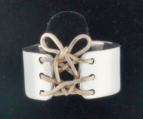 Auralee's Mini Corset Ring Sterling Silver 14K Gold Filled Corset Ring $69.00
