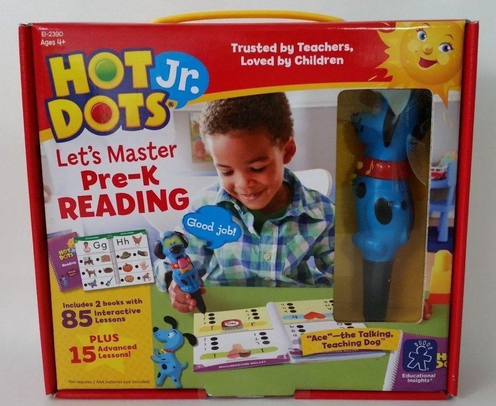 Ebay Sponsored New Hot Dots Jr Lets Master Pre K Reading 2 Books