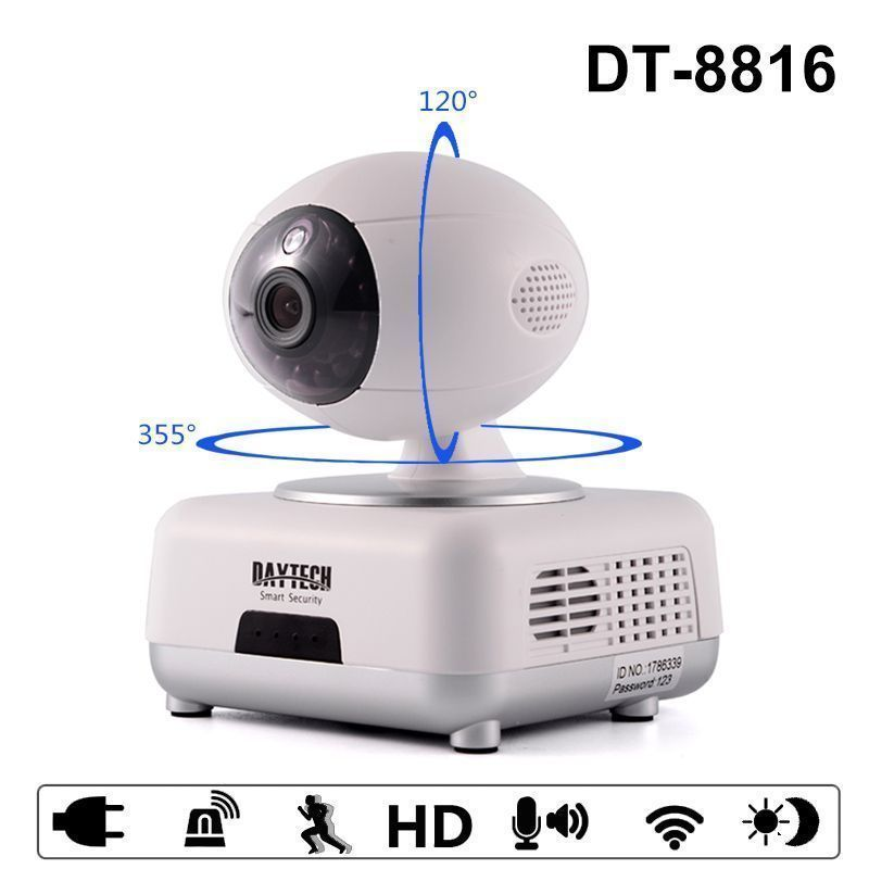 Daytech Wifi Ip Camera Home Security Camera 720p Night Vision Infrared Two Way Audio Baby Monitor Wireless Ne Security Cameras For Home Home Security Ip Camera