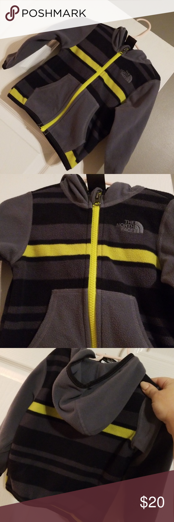 25adaed05 Toddler boys The North Face fleece jacket Yellow