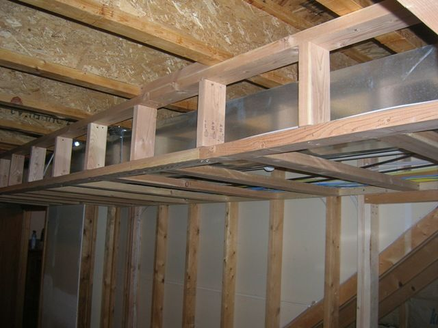 Diy Basement Ideas Basement Soffits Building