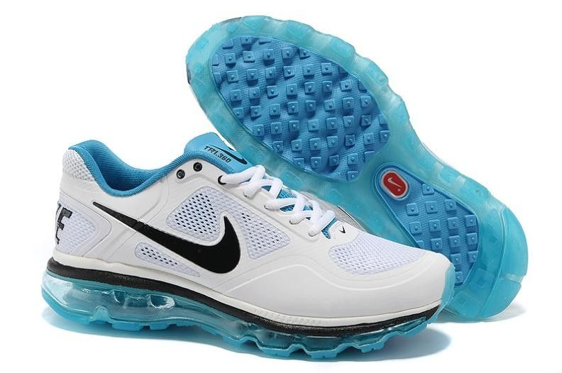 Nike Air Trainer 1.3 Max Breathe Men's Shoes 513697 102 White/Black/Baby  Blue