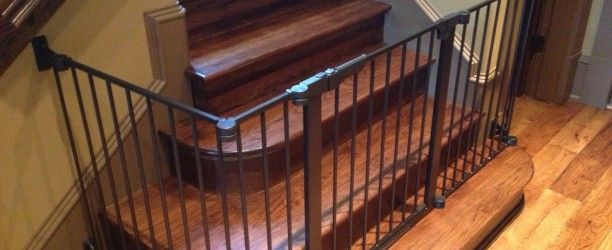 Childproofing Wide Stairs | Baby Gate Solution For Difficult Stairway  Gallatin U2013 Nashville TN