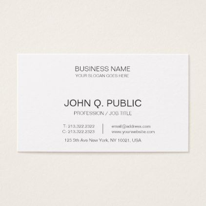 minimalistic corporate elegant plain white business card elegant