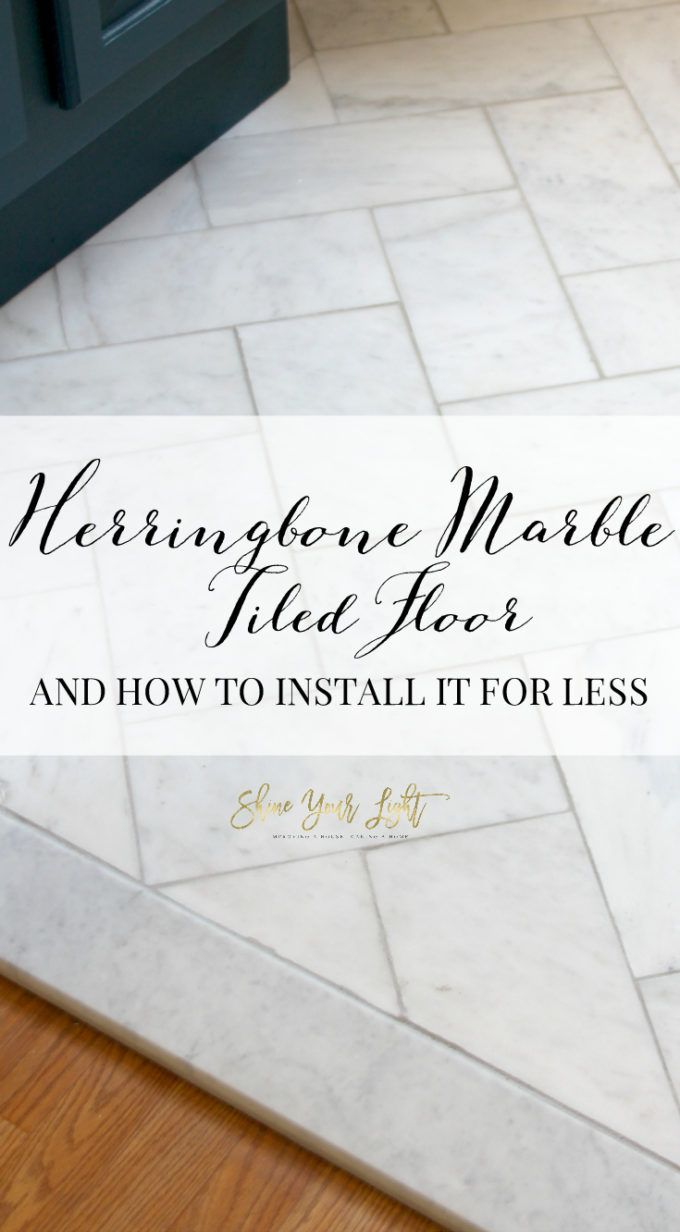 large herringbone marble tile floor a great tip to diy it for less