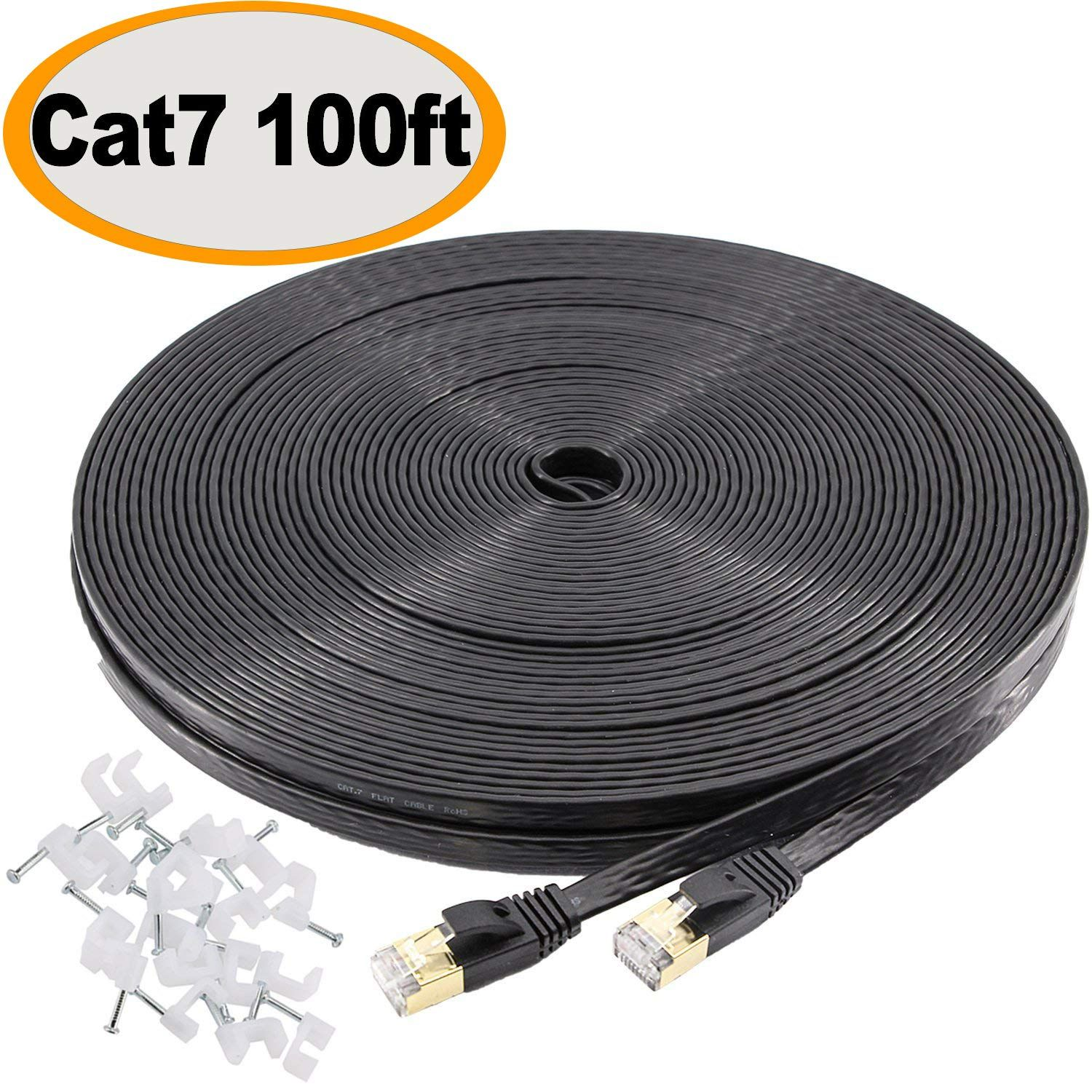 100ft Cat5e Network Cable 100 Internet Game Router 100 ft