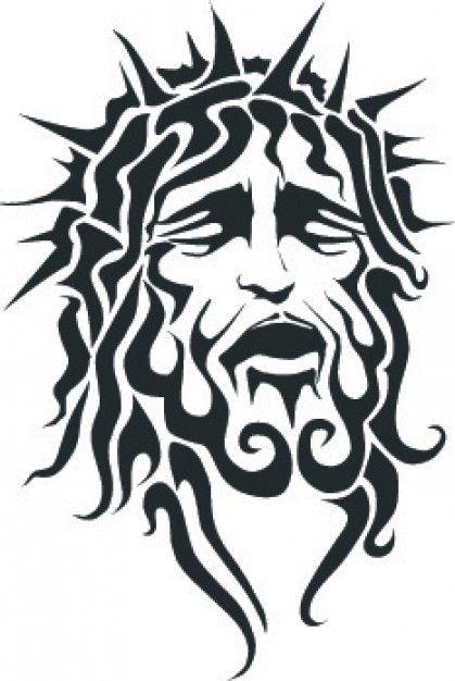 Jesus Sufriente Cara Con La Corona Afilada Descargar Vectores Gratis Jesus Art Jesus Drawings