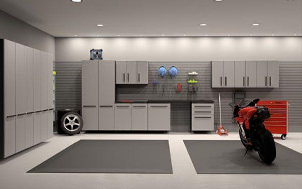 Dream Motorcycle Garages Park Your Ride In Style At Night Garage Interior Garage Design Interior Garage Design