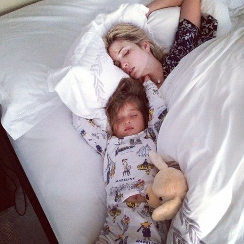 Arabella and me this morning when we slept through the...