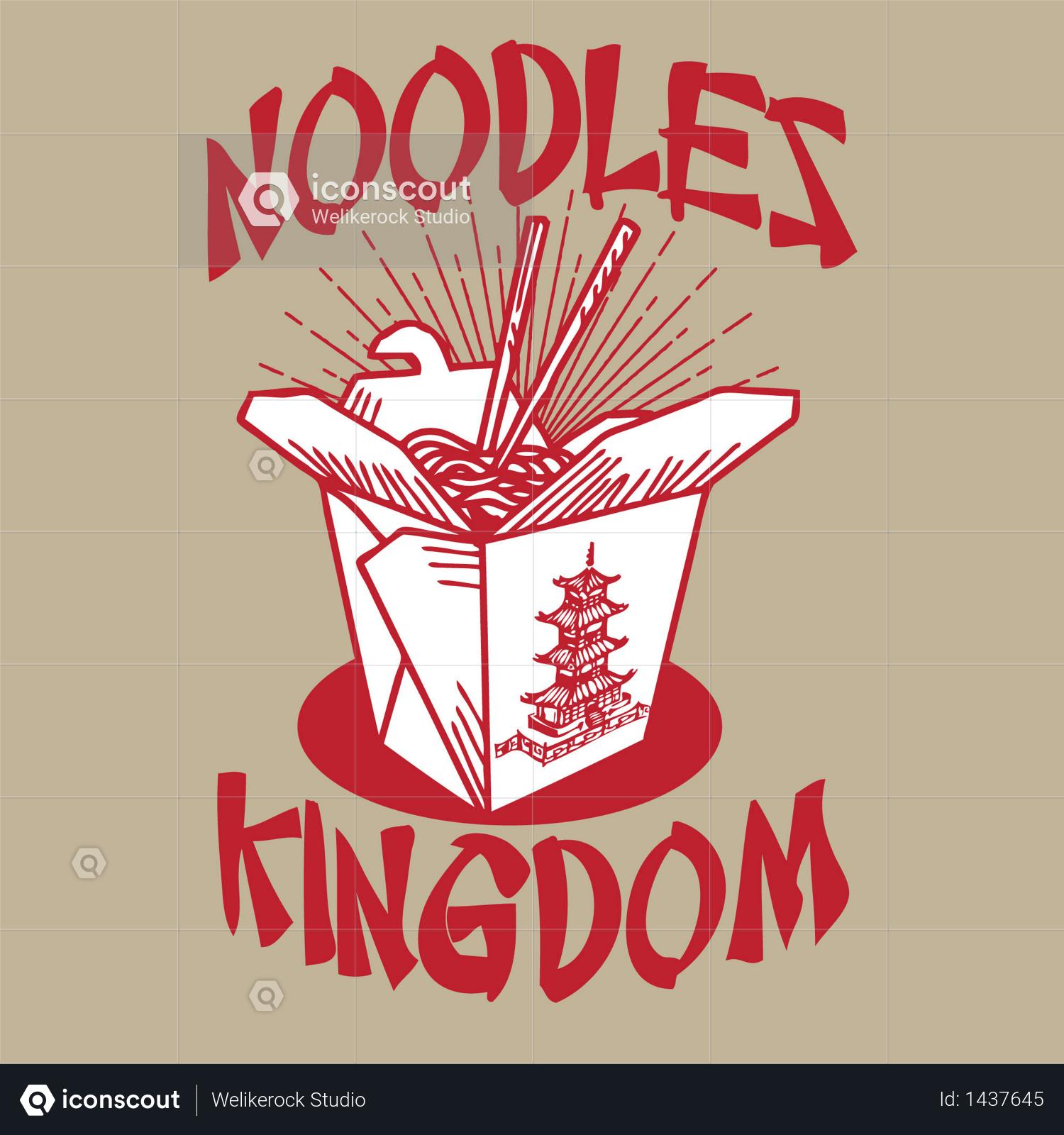 Premium Noodles Kingdom Illustration download in PNG