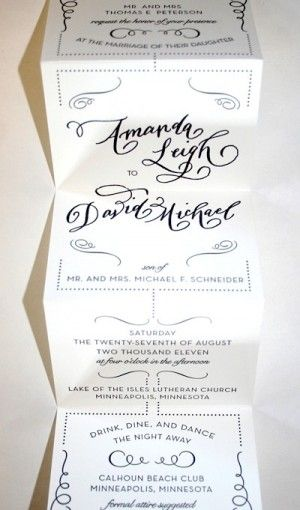Amanda David S Whimsical Accordion Fold Wedding Invitations