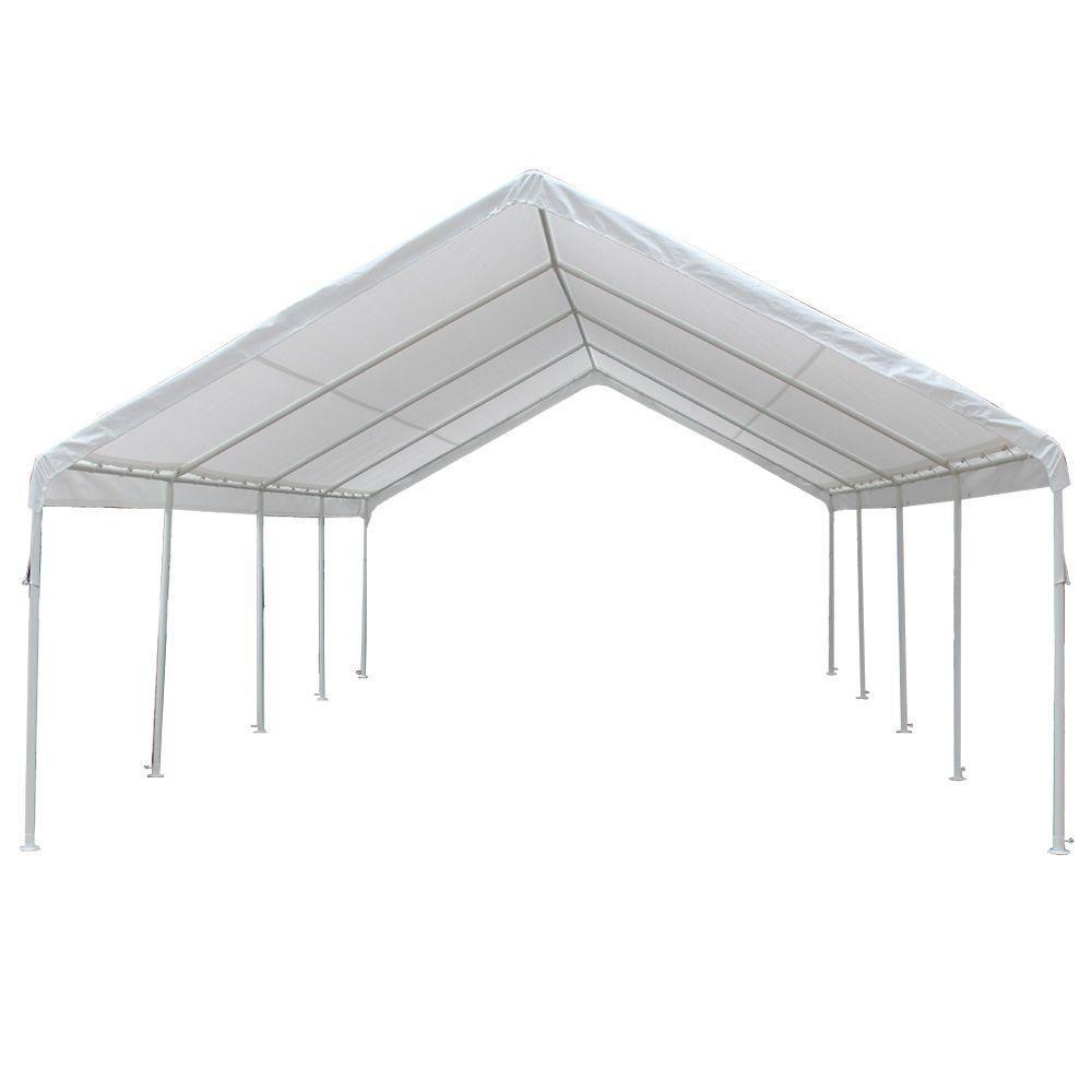 King Canopy Hercules 18 Ft W X 27 Ft D Steel Frame Canopy Hc1827pc The Home Depot Steel Canopy Canopy Tent Steel Frame