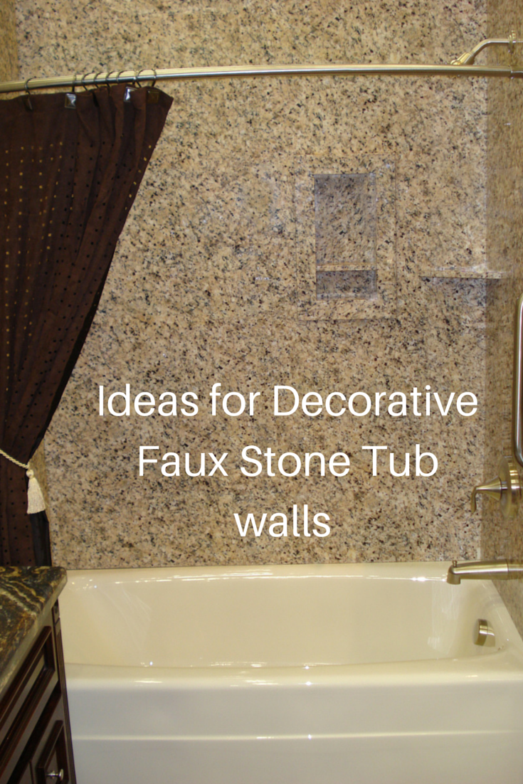 Ideas for easy to install DIY decorative faux stone tub and shower ...