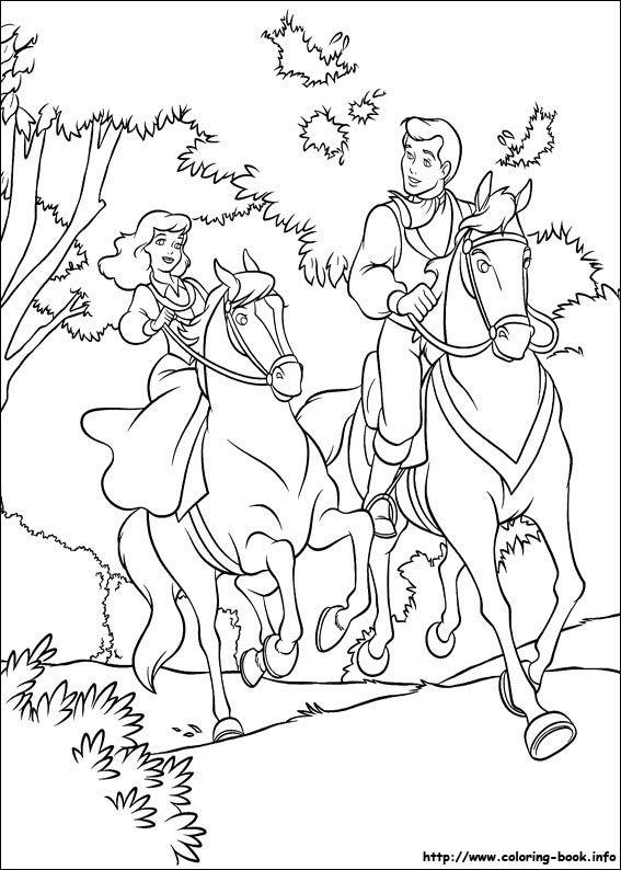 Cinderella coloring picture   Disney Princesas   Pinterest   Disney ...