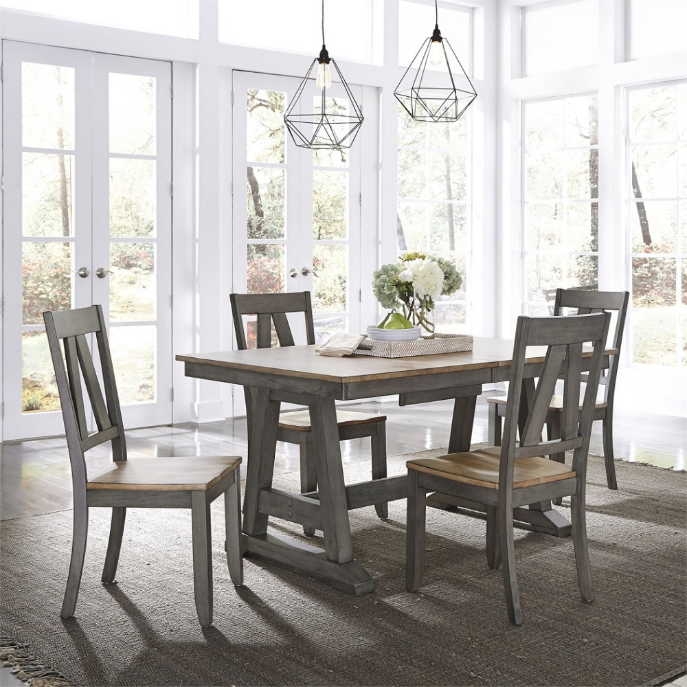 American Design Furniture By Monroe Lancaster Dining Set With Images Oak Dining Sets Dining Dining Set