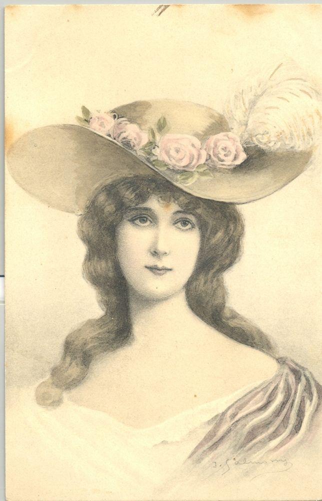 MA129 VIENNE FEMME CHAPEAU à PLUMES LADY FEATHER HAT