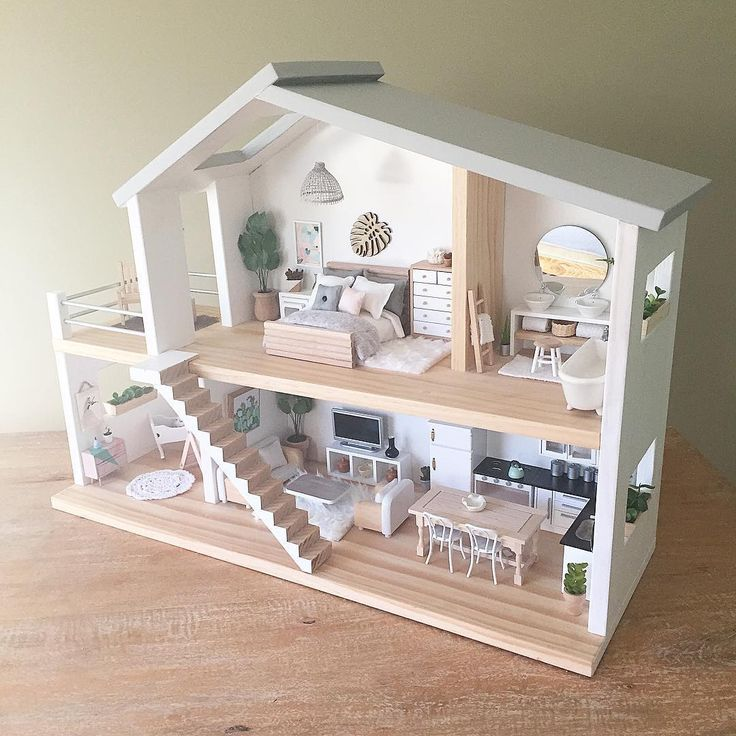 Image result for barbie dollhouse minimalist natural for Big modern dollhouse