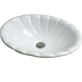 Magnificent Barclay Corona White Drop In Oval Bathroom Sink With Home Interior And Landscaping Palasignezvosmurscom
