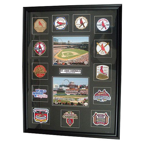 St. Louis Cardinals Framed World Series Patch Collection