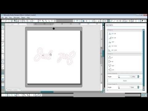 Tekst som et snefnug i Silhouette Studio - YouTube