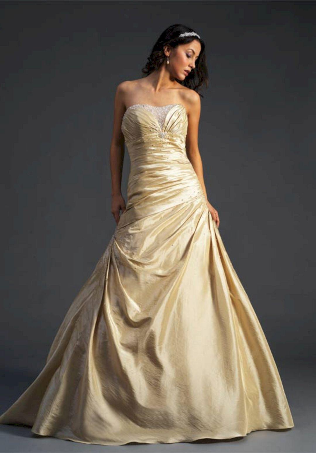 Luxurious Golden Wedding Dress Design: 30+ Best Picture Ideas ...