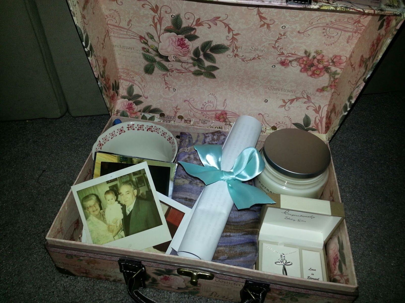 For My Grandmothers 90th Birthday I Made Her A Memory Box With Letter Taking Down Lane And Explaining Each Item In The