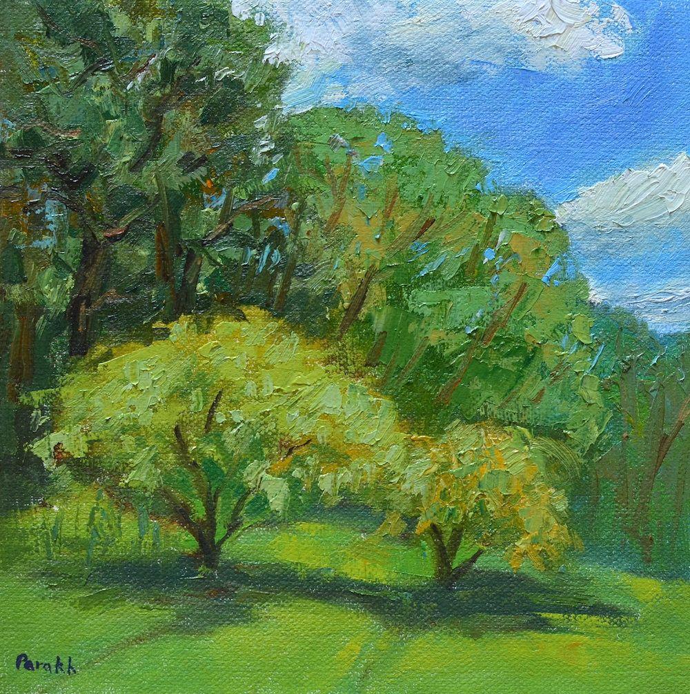 Plein air painting | Summer trees | impressionist landscape ...