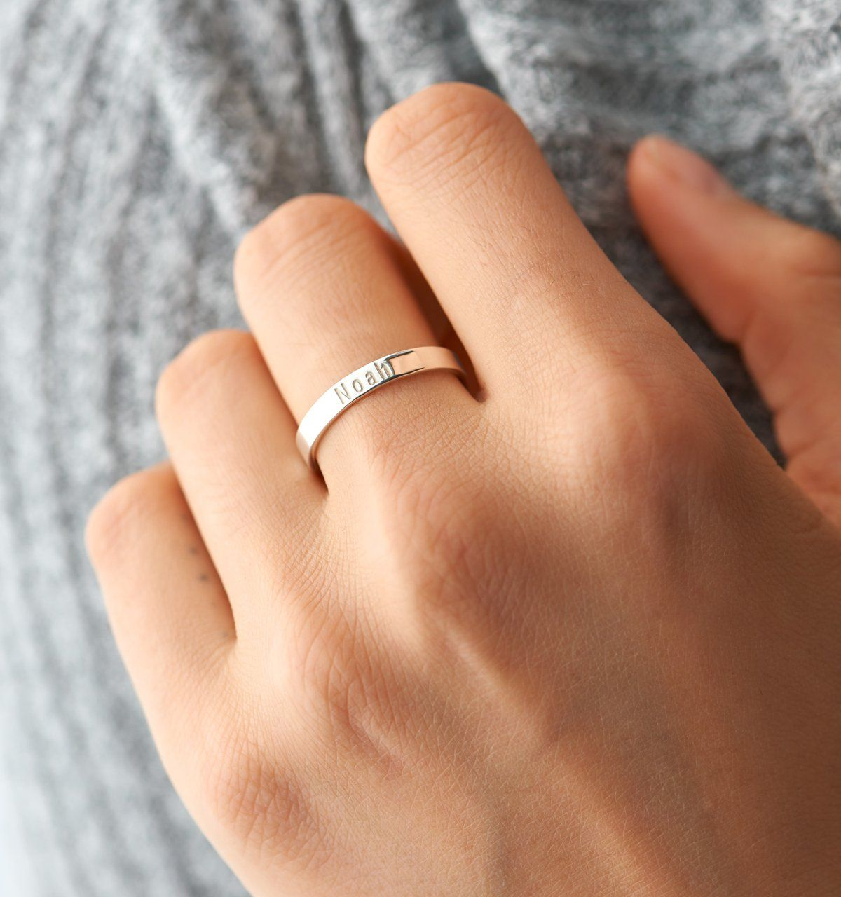 A Timeless Piece Made To Wear Everyday Make Your Ring Extra Personal With Your Bestie S Name Womens Jewelry Rings Eternity Band Diamond Womens Jewelry Trends
