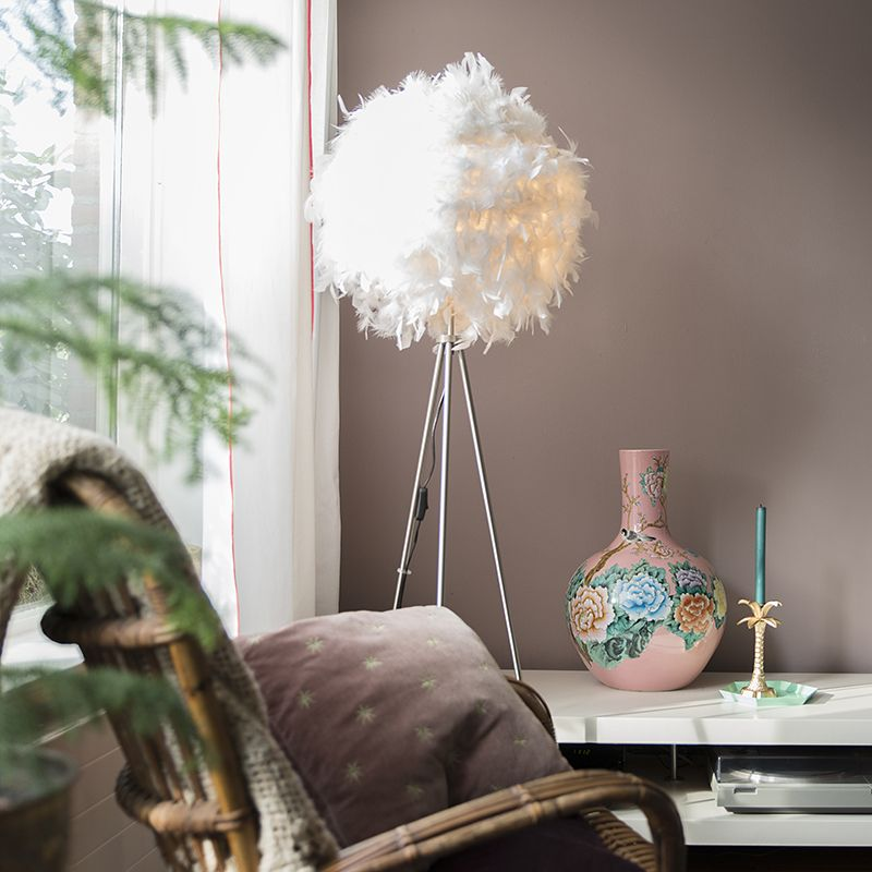 zachte veren lamp in huis