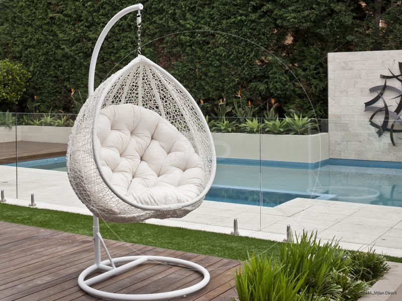 Superb Hanging Egg Chair Outdoor Rattan Wicker White Australian Creativecarmelina Interior Chair Design Creativecarmelinacom