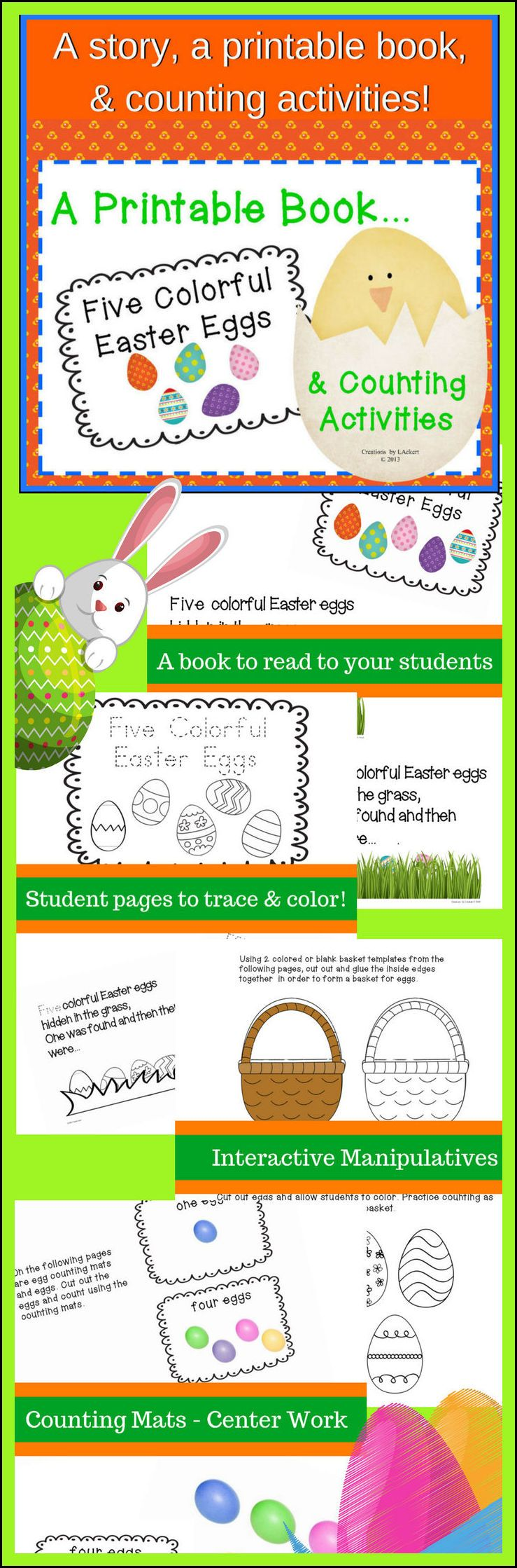 Five Colorful Easter Eggs - A Story, Worksheets and Acitivities ...
