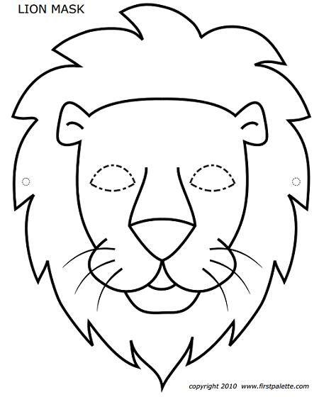 Caretas Para Imprimir Y Colorear Mascara De Animales Caretas De Animales Mascara De Leon