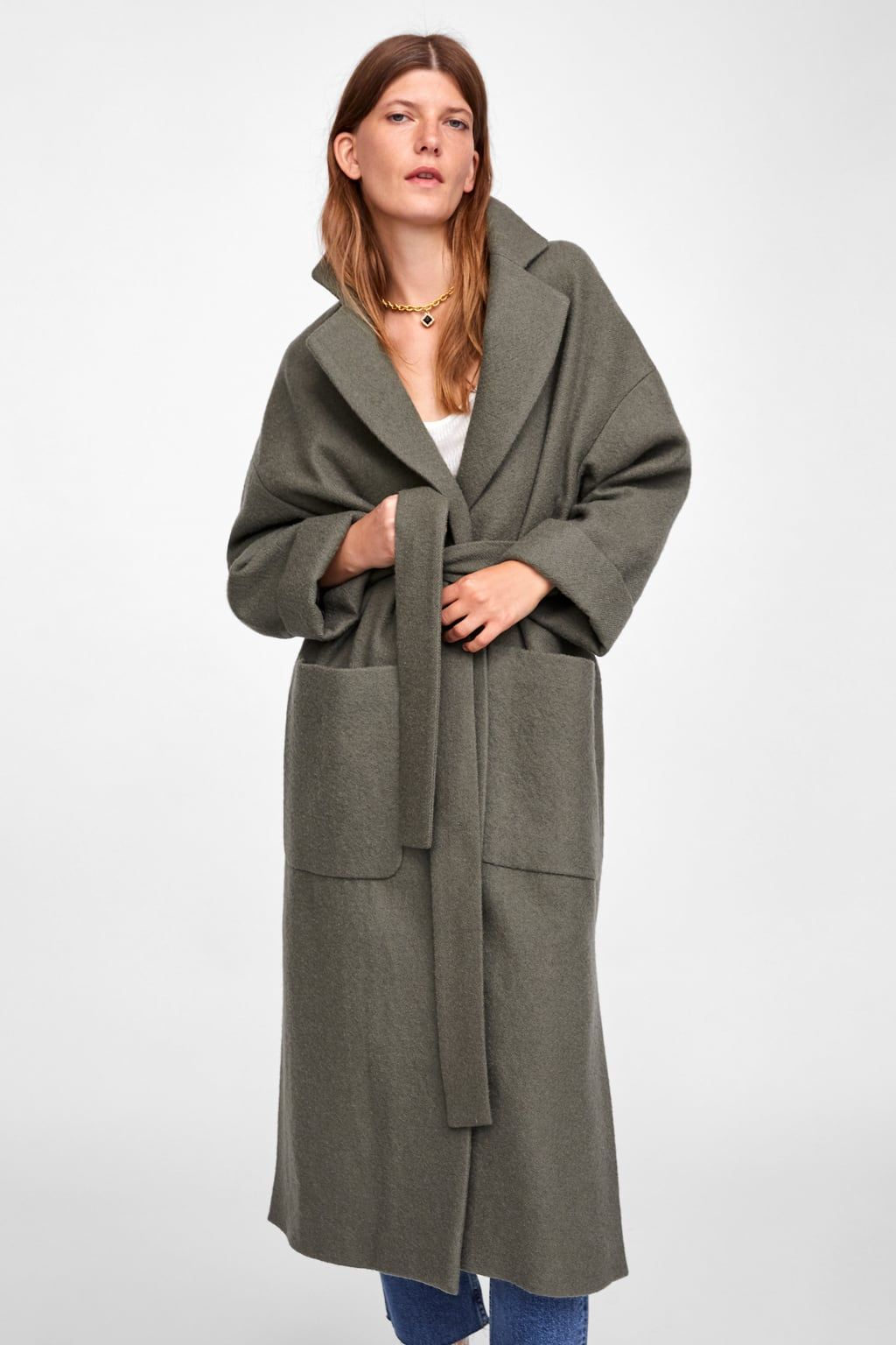 b47716a30c3 Image 6 of LONG BELTED COAT from Zara | Clothing in 2019 | Coat ...