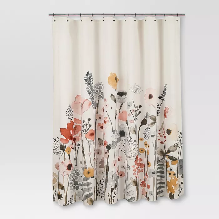 Floral Wave Shower Curtain White Threshold Target Shower Curtains Floral Shower Curtains Shower Curtain