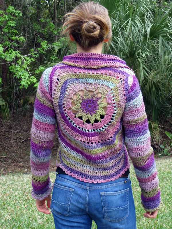 Crochet Flower Jacket Pattern : Crochet