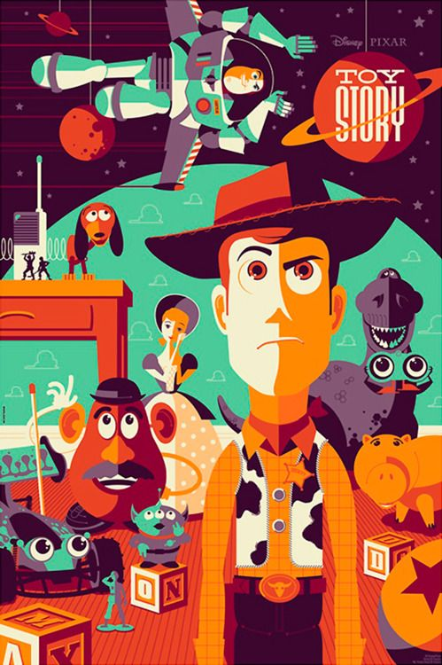 Toy Story By Tom Whalen Cool Illustration In 2018 Pinterest