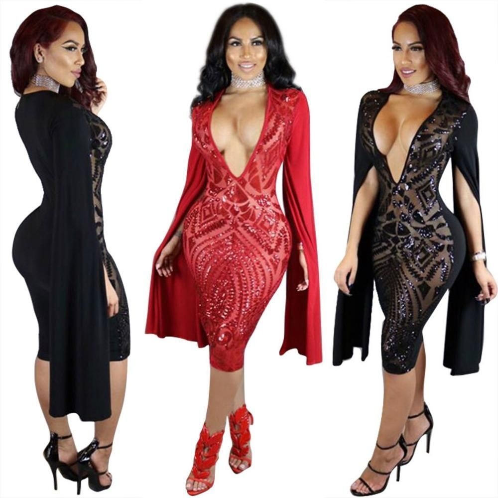 Sequin sexy bodycon dresses