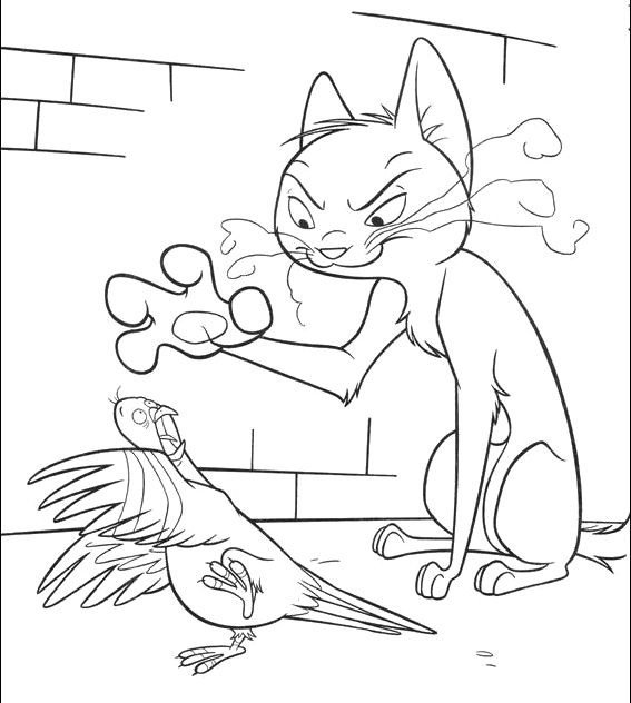Cat Scare Bird Coloring Page Bolt Car Coloring Pages Bird Coloring Pages Cars Coloring Pages Coloring Pages
