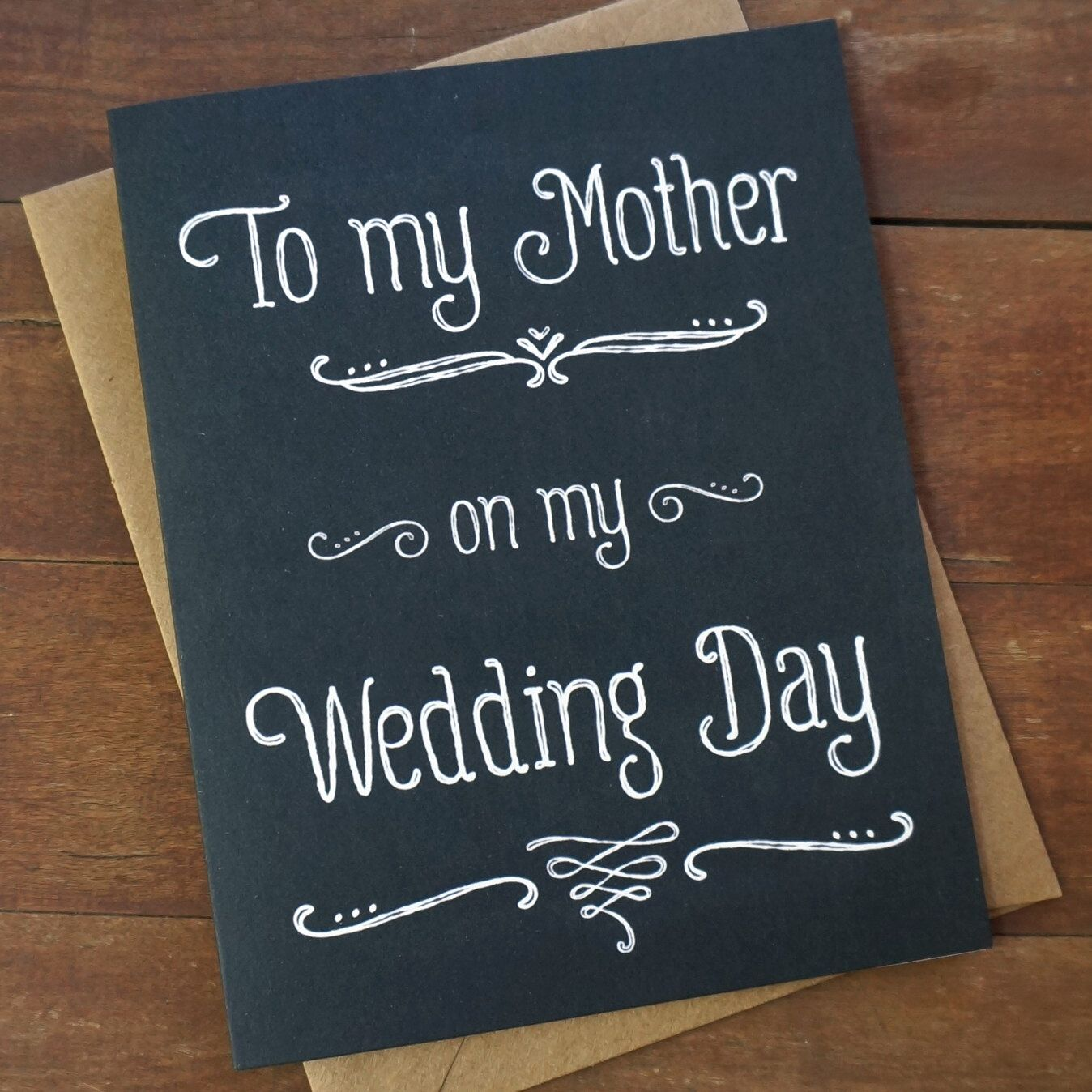 Mother of the Bride Card  To My Mother On My Wedding Day Gifts For