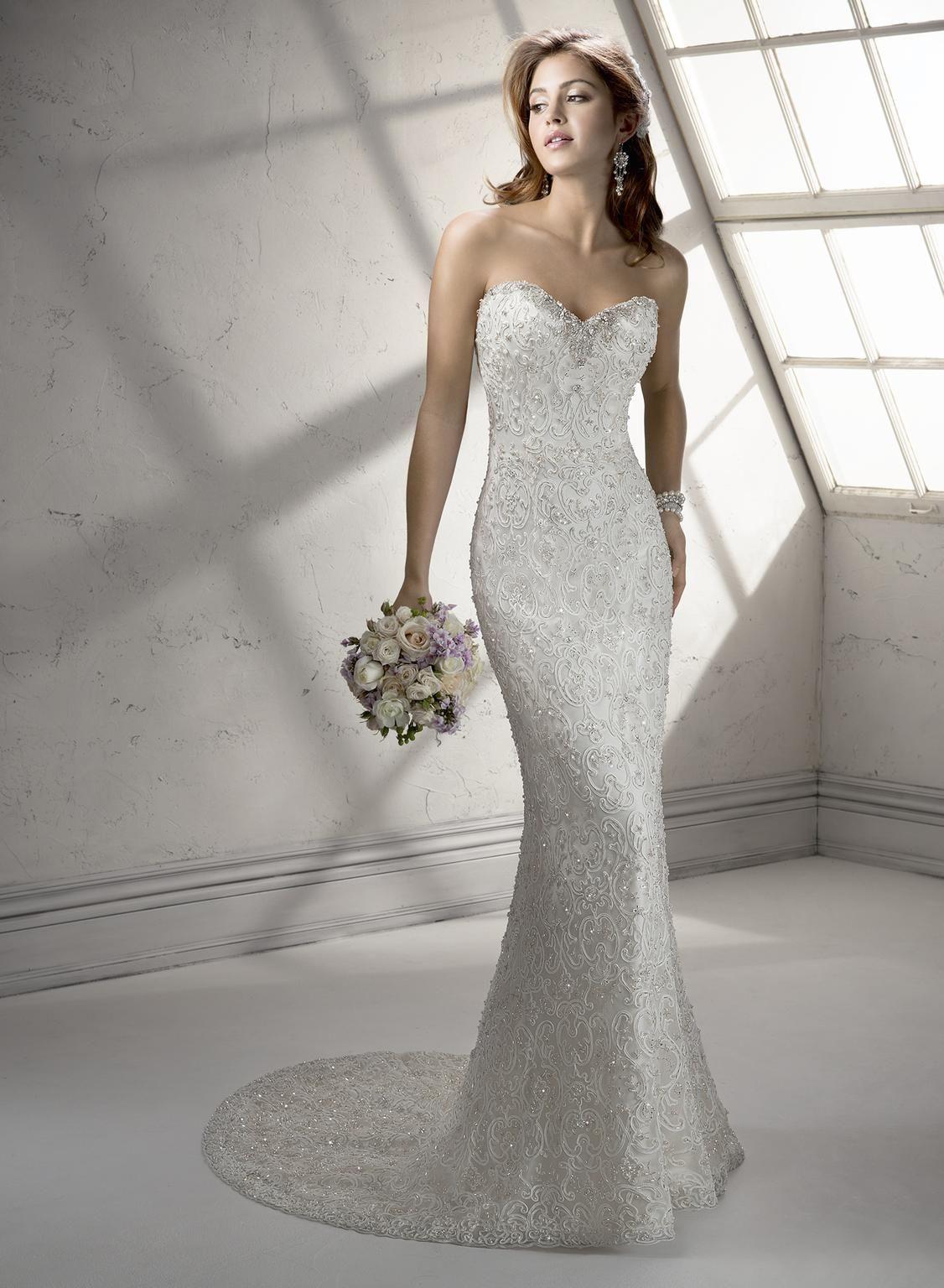 Maggie Sottero Lanie Wedding Dress Sample, Size 12