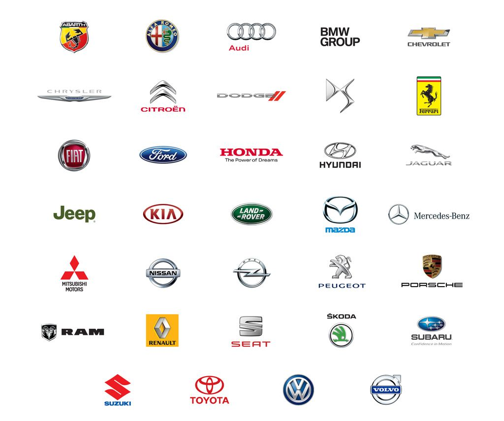 Abarth Alfa Romeo Audi Bmw Group Chevrolet Chrysler Citroen