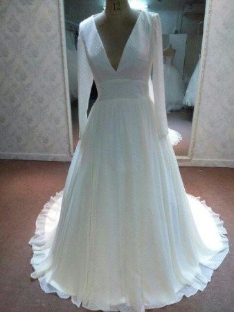Empire waist plus size bridal gown with sleeves - Darius Cordell ...