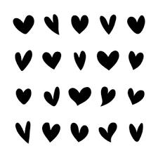 Resultado De Imagen Para Fondos De Corazones Libre De Vectores Silueta De Corazon Corazon Vector