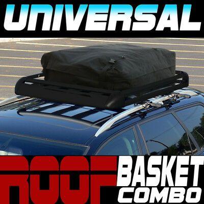 Best Details About Blk Aluminum 50 Roof Rack Rail Cargo Basket 640 x 480