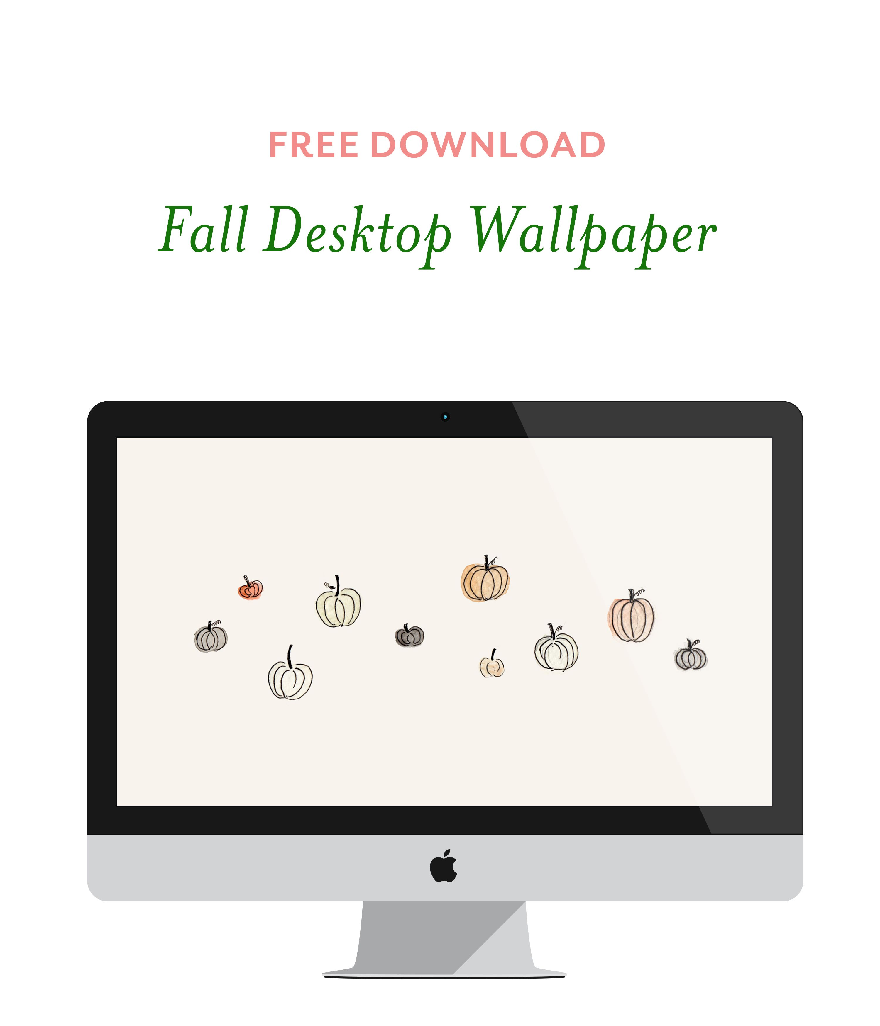 Add A Touch Of Fall To Your Office Dowloand This Free Desktop Wallpaper From Little Trailer Studio Fondos De Pantalla Fondos