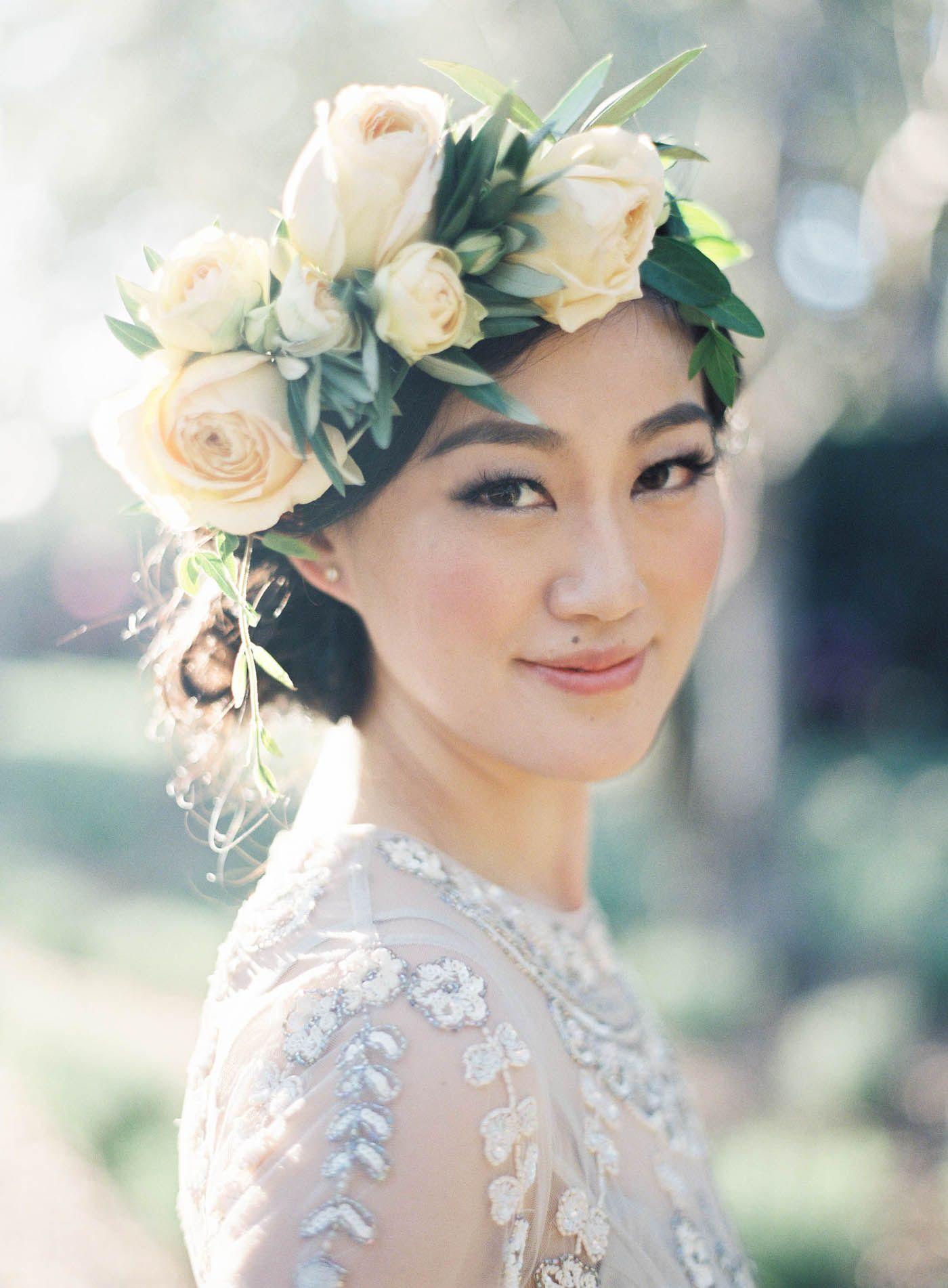 Floral Crown Lauryl Lane Jen Huang Photo Wedding At