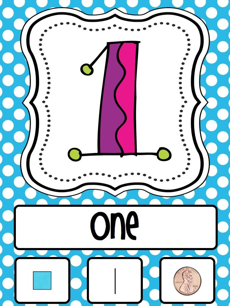 A day in first grade: Manic Monday Freebie-- Number Cards to twenty!!
