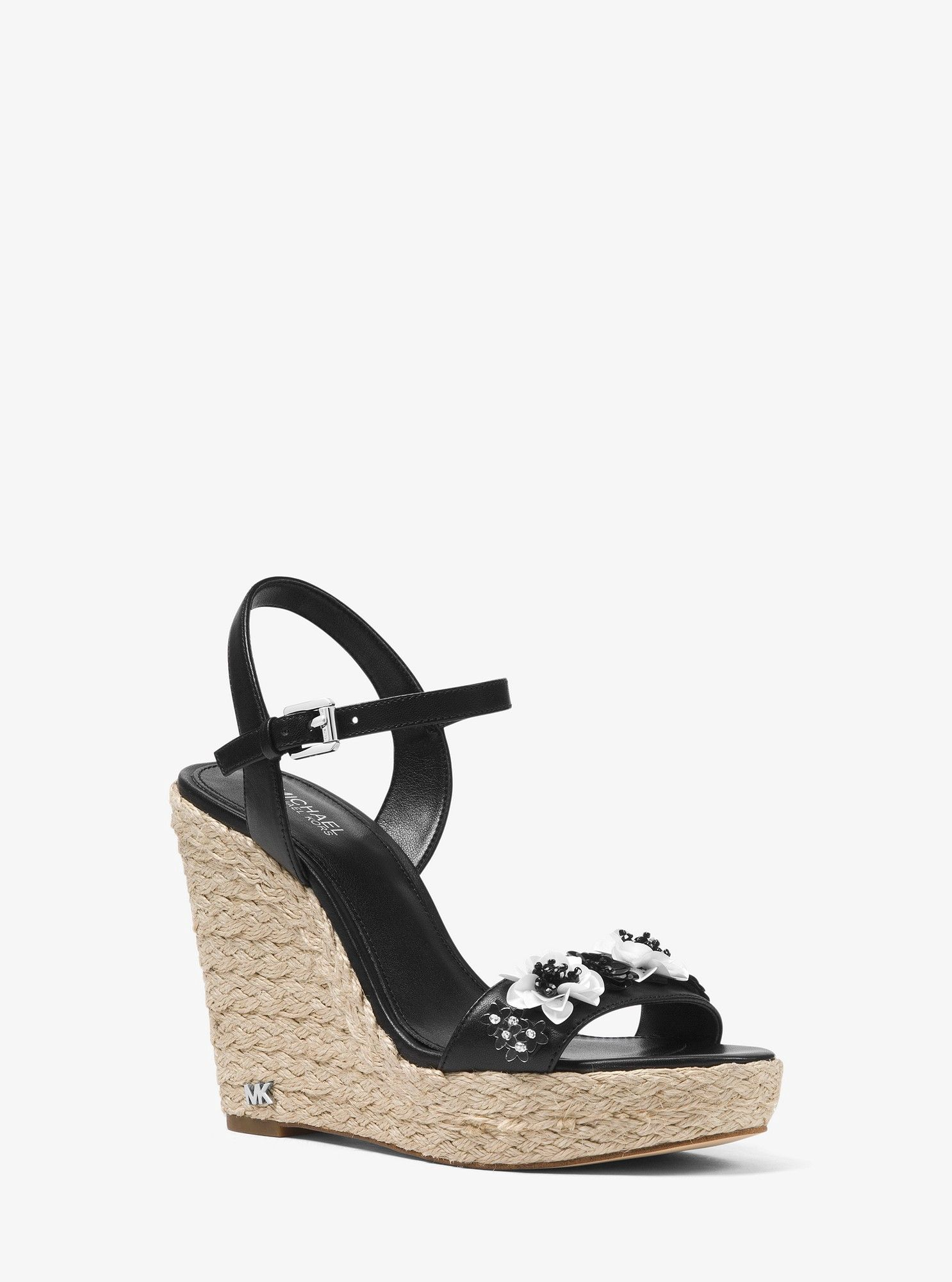 62130c94744b Jill Floral Sequined Leather Wedge by Michael Kors in 2018 ...